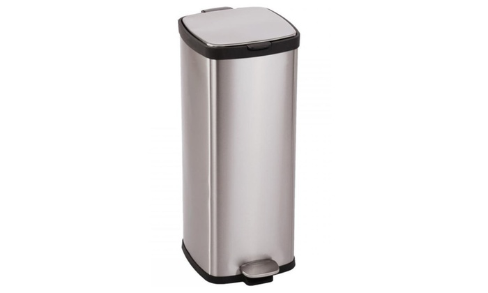 BestOffice 8 Gallon/ 30L Step Stainless-Steel Trash Can Kitchen S30T