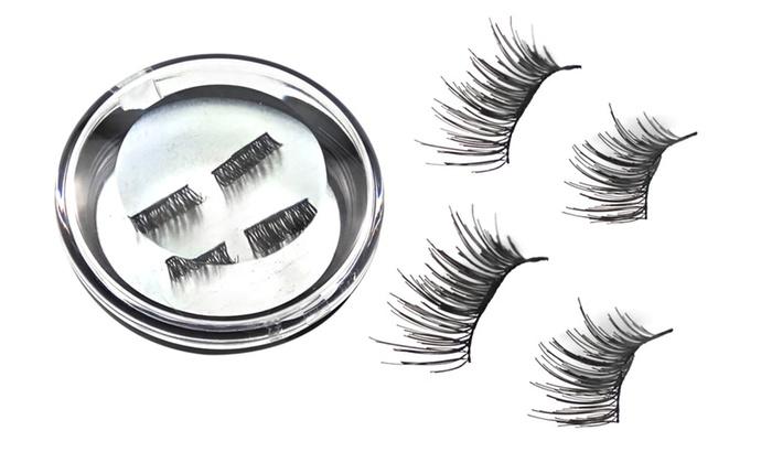 aaf2afe51e6 4Pcs Magnetic False Eyelashes 3D Reusable No glue Eye Lashes Extension