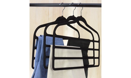 Velvet Space-Saving Pants Hangers (4-Pack)
