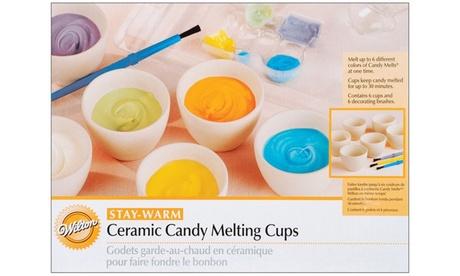 Wilton Mini Stay-Warm Ceramic Candy Melting Cups cd24fb28-bdb4-48e5-a876-83930f4a72b2