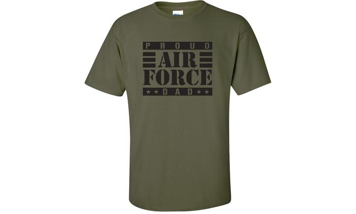 d7014460 Proud Air Force Dad Short Sleeve T-Shirt   Groupon