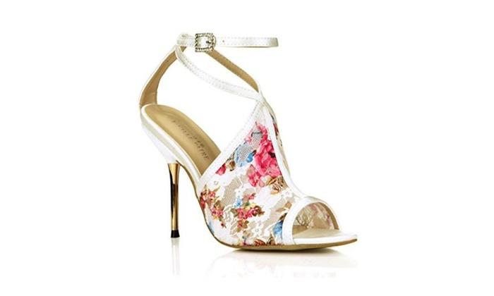 Floral Sandal Pumps Strap Peep High Heels Carpet Stiletto Shoes