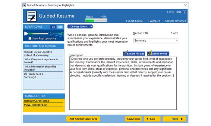 resumemaker professional deluxe 20 groupon - Resume Maker Deluxe