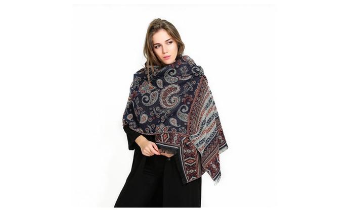 Stylish Paisley Pattern Womens Thicker Winter Wild Scarf