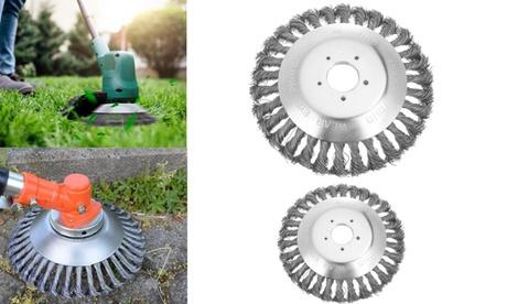 6/8 Inch Steel Wire Wheel Brush Grass Trimmer Head Weed Cleaning Garden