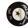 Autographed Mike Modano Dallas Stars Puck FHS13