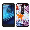 Insten Flower Buds Dual Silicone Case For Moto Droid Turbo 2 Purple