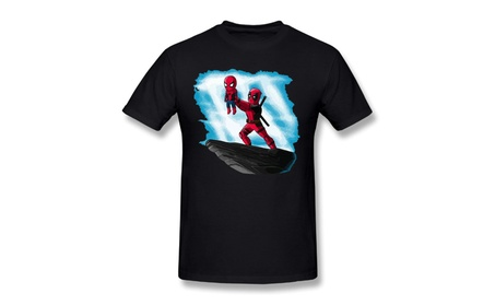 Men's The Spider King, Spiderman Marvel, Deadpool T-Shirt Black ff6716fe-1dca-4456-807e-822531ff4a52