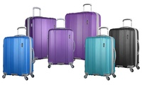Olympia USA Vit Expandable Hard-Sided 3 Piece Spinner Set (Purple)