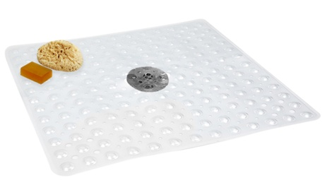 Evelots Vinyl Square Shower Mat With Suction Cup Base 0008c28c-e19f-4af3-8fd7-68aa20caae3b