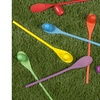 Hey! Play! Wooden Egg and Spoon Race Game with 6 Spoons and Eggs