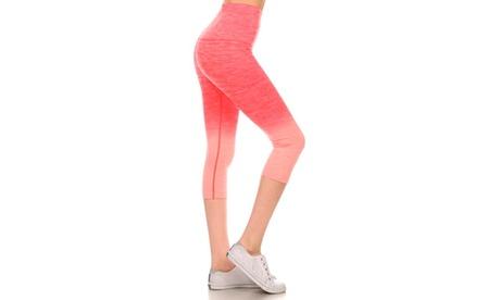 Activewear Ombre Capri Leggings 5e216b0b-b6e9-4eca-b3a2-08044e7d5787