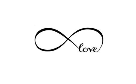 Infinity Symbol Word Love Vinyl Art Bedroom Wall Stickers a3395375-fb68-4939-a9d3-59179a9bac94