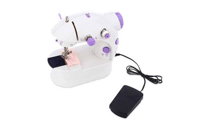 Portable Desktop Mini Electric Sewing Machine Hand Held Household Tailor 2