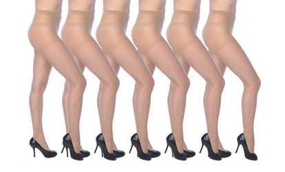 10ab536d5 Shop Groupon Isadora Paccini Women s Leg Support Pantyhose 6-Pack