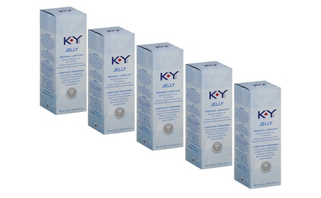 5 Packs - K-Y Jelly Personal Water Based Lubricant, 2 Ounce 9f30b94f-8320-415e-b03a-c55bab2d5d24