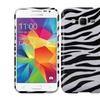 Insten For Samsung Galaxy Prevail Prime Hard Rubberized Case Zebra