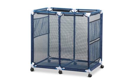 Topeakmart Pool Storage Bin Rolling Mesh Basket Organizer Swimming 0bbb60d6-199f-48a8-b5ba-c88a0c92b253