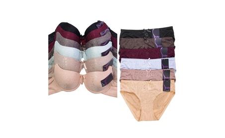 Uni Style Apparel Womens Poly Plain Bra Bikini Panty Set -12 Pack 04a40c84-e211-49bc-a1f6-bb0982403f63