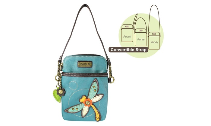 Chala Crossbody Cell Phone Purse Women Pu Leather Handbags Turquoise