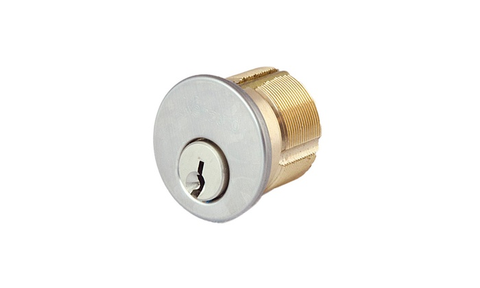 "Satin Nickel 1""- US26D Mortise Cylinder With Cover Ring Included"