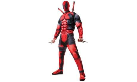 Mens Deluxe Deadpool Costume - Standard One-Size e5ca0c44-3ac5-41e0-aa4d-608fb008c822