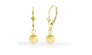 18kt Gold Plated Ball Dangle Earrings in Sterling Silver