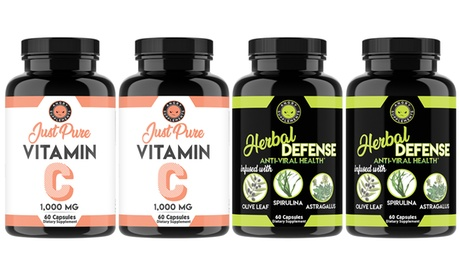 Angry Supplements Pure Vitamin C Pills Herbal Defense Anti Viral Immune Support