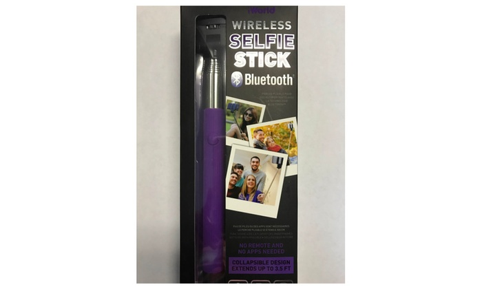 iworld selfie stick with built in shutter release button bluetooth groupon. Black Bedroom Furniture Sets. Home Design Ideas