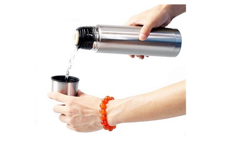 New Stainless Steel Vacuum Flask Bottle Thermos, Silver 500ml 7b8e8af3-5cf1-4bba-9feb-207882a918cb