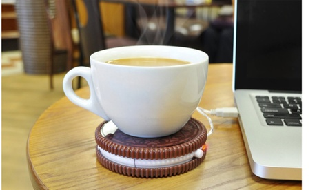 Oreo Cookie Shaped Cup Warmer Coaster USB Plug 5b604427-0d14-4c04-8960-57731d7ea4e8