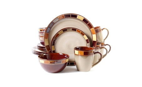 Gibson Casa Estebana 16-piece Dinnerware Set Service for 4, Beige photo