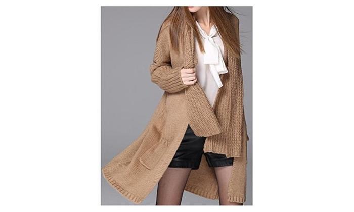 Hanxue Women's Winter Loose Knit Pullover Sweater
