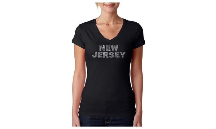 Women's V-Neck T-Shirt - NEW JERSEY NEIGHBORHOODS