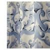 "Fabric Canvas Shower Curtain 70""x70"", Miley, Blue Scroll Damask"