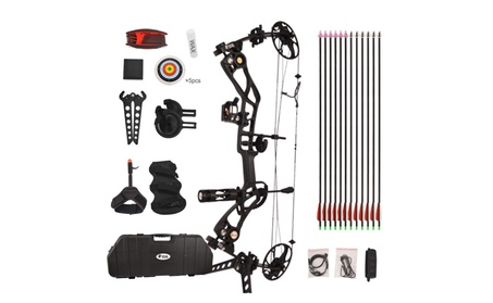 Black Draw weight 15-70lbs IBO 320 FPS Tactical Compound Bow Package 96a21a62-41ff-432f-bb15-ee9ace861a03
