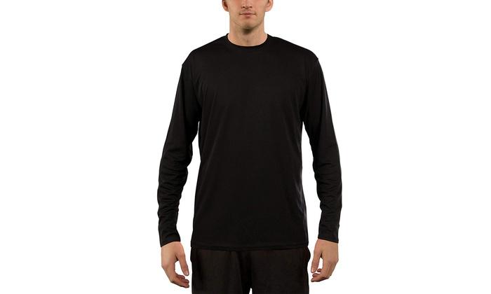 e03296c9 Vapor Apparel Men's UPF 50 UV Sun Protection Performance Long Sleeve T-Shirt
