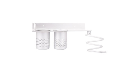 Hair Dryer Stand Organizer Rack Holder Hanger Wall Mounted Bathroom 26619e8e-a3fc-4363-920d-560c57eb1ad6