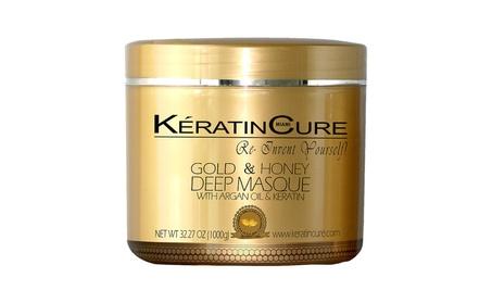 Keratin Cure Deep Hair Reparation Masque Gold & Honey 1000gr/32oz 13900451-3a49-46c6-a474-5df9100348b6