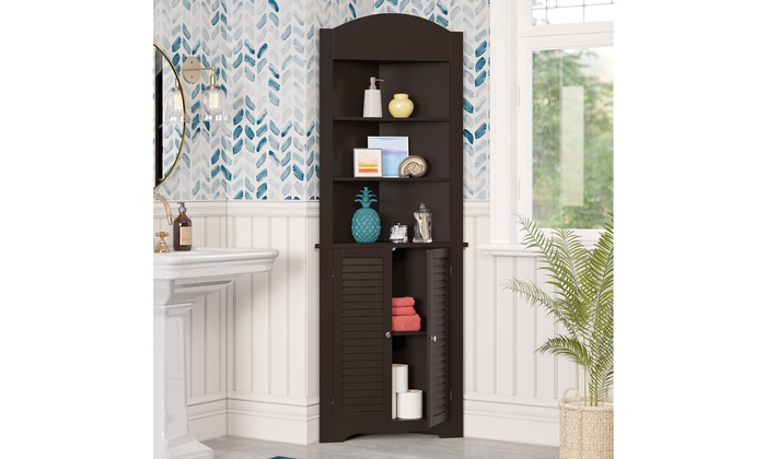 Ellsworth Tall Corner Cabinet Groupon