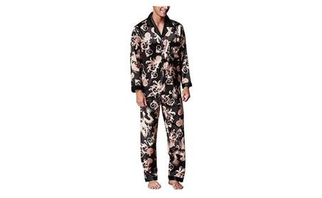 Men's Silk Pajamas Set Shirt and Pant Satin Sleepwear Loungewear 5f6521d4-b788-459e-b8a5-4354fcf6120c