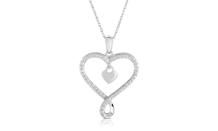 City of hope diamond accent heart pendant in sterling silver groupon city of hope diamond accent heart pendant in sterling silver aloadofball Image collections