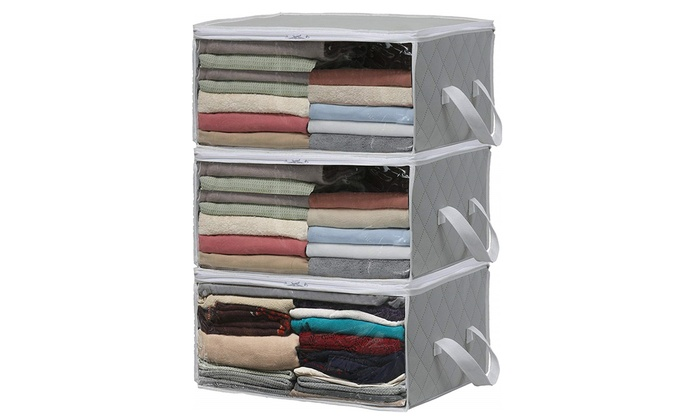 176822730f25 Up To 20% Off on 3 Pack Foldable Closet Organi... | Groupon Goods