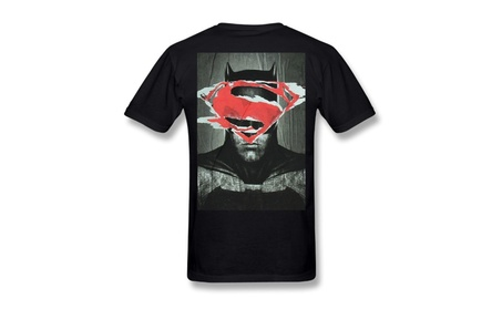 Dc Comics Batman V Superman Batman W Superman Shield T-shirt Black cacfffeb-a8cd-43f0-8dec-eeeb57d8f6ce