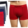 Mens Thin Striped Seamless Boxer Brief 6 Piece Color Variety Set