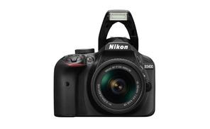 Nikon D3400 24MP Digital SLR Camera Black with 18-55 AF-P VR Lens  at The Teds Store, plus 6.0% Cash Back from Ebates.