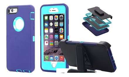 iPhone 6s Plus/6 Plus Shockproof Heavy Duty Hard Belt Clip Case Cover