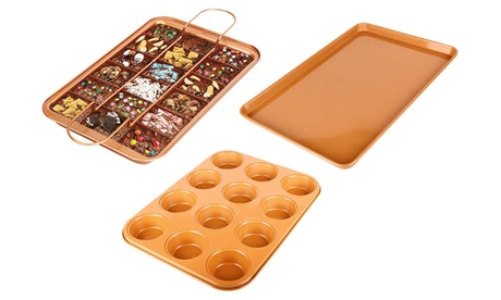 Copper Muffin Pan, Brownie Pan, Cookie Tray c83881ec-c1e6-4d64-a39f-9503e8354797