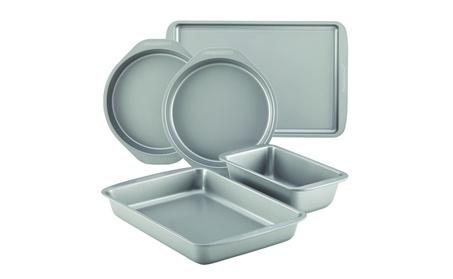 Farberware Nonstick Bakeware 5-Piece Baking Pan Set, Gray