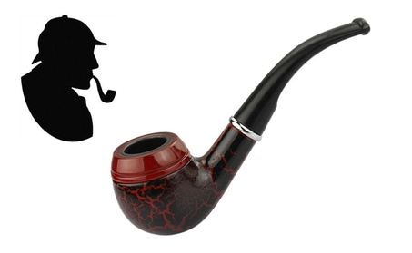 Dark Red Durable Wooden Smoking Pipe Tobacco Cigarettes Cigar Pipe